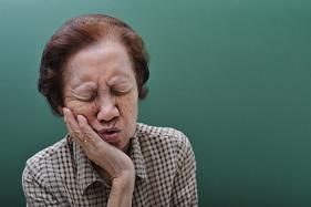 An elderly woman in need of a jaw surgery.